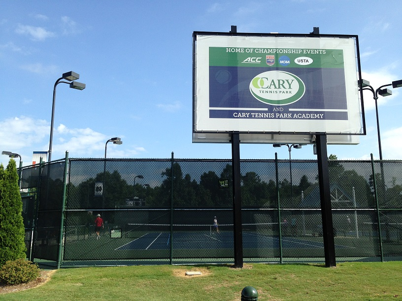 Cary Tennis Championships Tennis Park sign