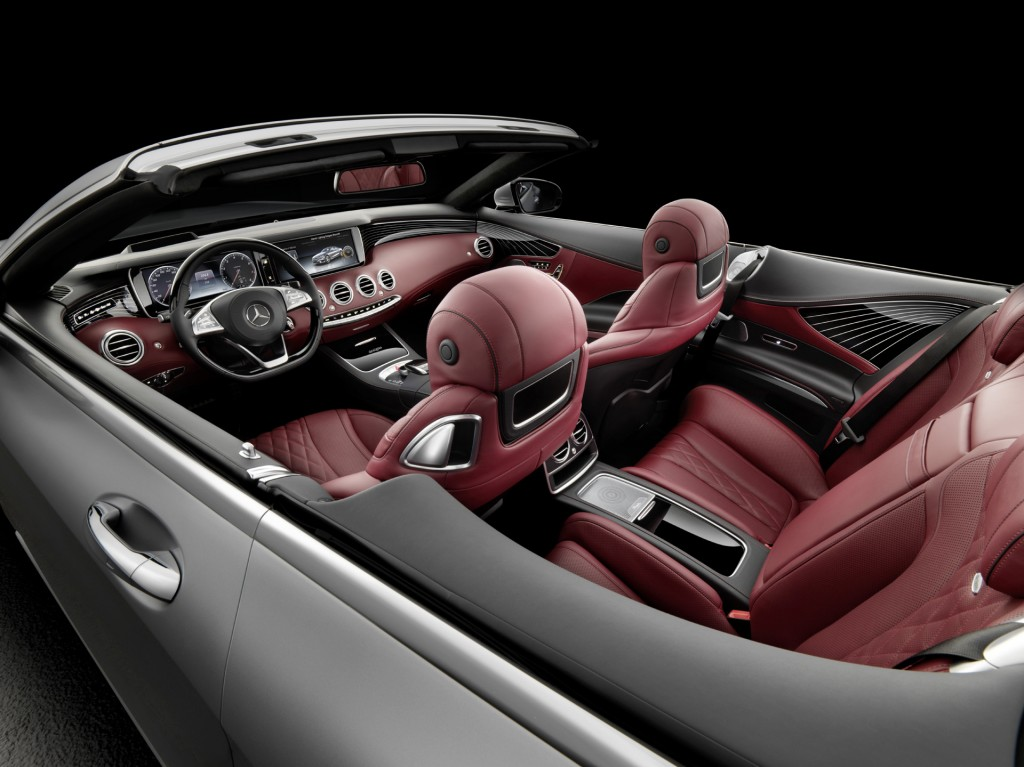 Mercedes-Benz S-Class Cabriolet top down interior view