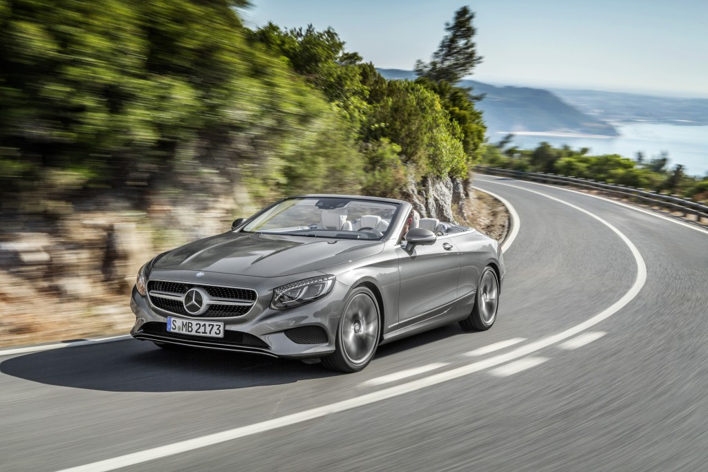 Mercedes-Benz S-Class Cabriolet silver exterior driving