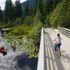 Cycling on the Valley Trail over the River of Golden Dreams